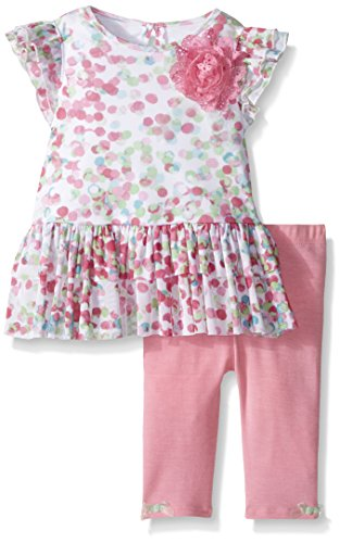 Pippa & Julie Baby Girls' Flutter Sleeve Set, Multi, 12 Months ()