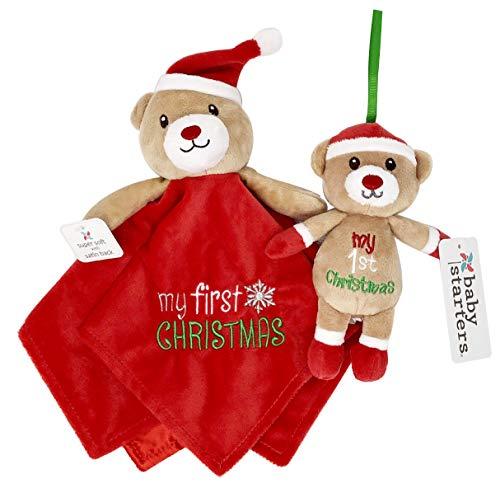 [해외]Baby`s My First Christmas Adorable Bear Security Blanket and Keepsake Ornament Gift Set. by Baby Starters / Baby`s My First Christmas Adorable Bear Security Blanket and Keepsake Ornament Gift Set. by Baby Starters
