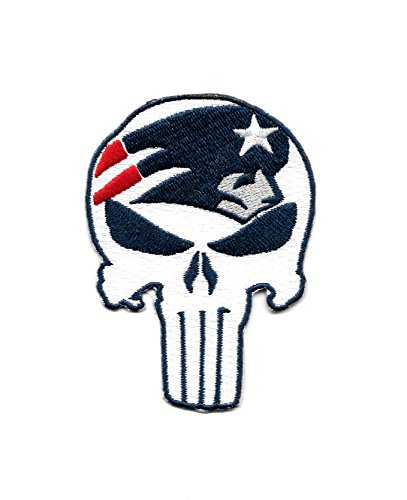 - Patriots Punisher Skull Embroidered Patch - Iron On