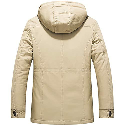 En Automne Roulé Hiver Veste Chaud Col Parka Manteau Slim Homme Montant Fit Blouson Kaki Uface Doudoune Coton RSqtp1w