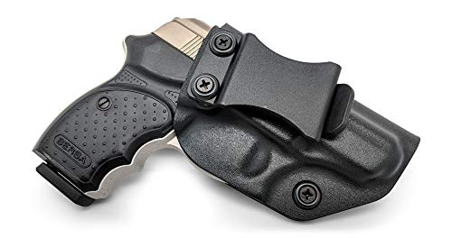 IWB KYDEX Holster: fits Bersa Thunder 380 CC (BLK, RH) - Inside Waistband Concealed Carry - Adj. Cant/Retention - US Made ()