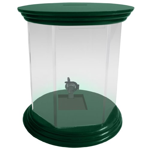 My Charity Boxes -Large Star Shaped Locked Donation Box - Ballot Box - Tip Container - with Round Top (Green)