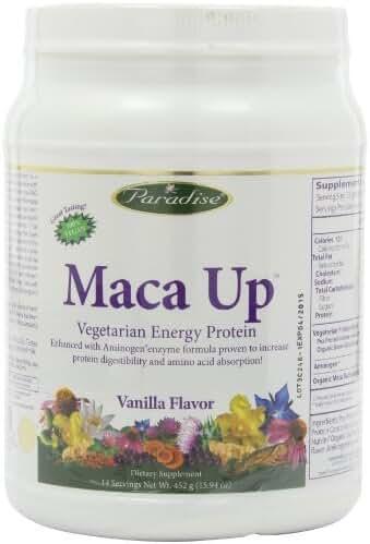Paradise Herbs Maca Up Protein Powder, Vanilla, 14.82 Ounce / 420 grams