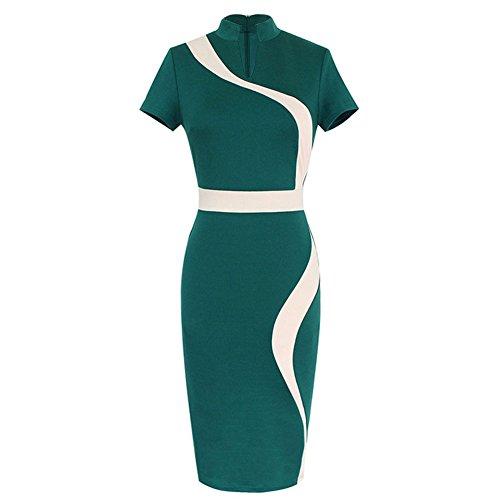 Pinkyee - Vestido - Estuche - para mujer Verde
