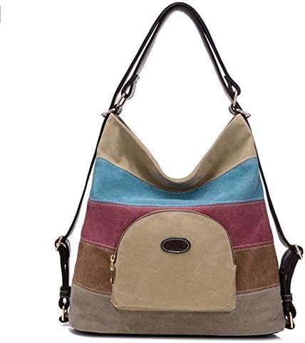 ハンドバッグ - バックキャンバスバッグ斜めのパッケージの多機能大容量でなく、肩、ジッパー、33センチメートル* 13センチメートル* 35センチメートル、 よくできた