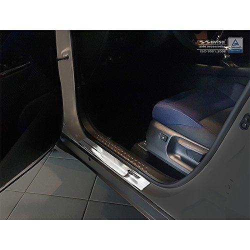 4-Pieces Auto Style 2//23010 INOX Door sill Protectors C-HR 2016-Exclusive