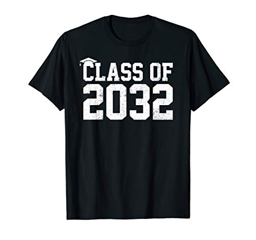 First Class T-shirt - Class Of 2032 Grow With Me Graduation First Day Of School T-Shirt