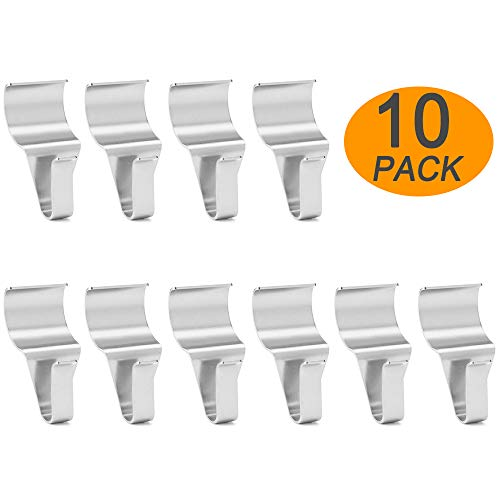 Wish Vinyl Siding Hooks (10 Pack), Heavy Duty Stainless Steel Low Profile No-Hole Vinyl Siding Clips for Hanging