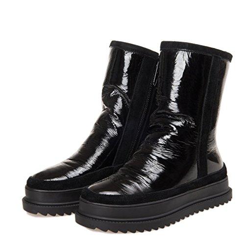 Flach Stiefeletten Plateauschuhe Winter Frauen Schuhe Mit Schneeschuhe Casual txCqaTg