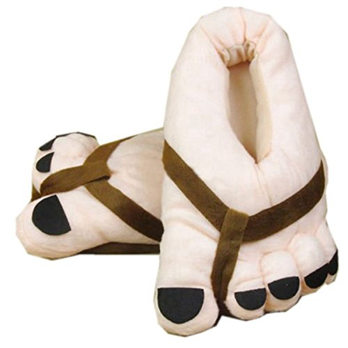 Winter Toe Adult Shoes Big Gift Plush Slippers Feet Novelty Funny Soft Warm Brown Eforstore g5q6n