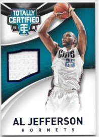 Al Jefferson 2014-15 Totally Certified Jerseys Blue #80/199 Charlotte Hornets Jersey Insert Card #1