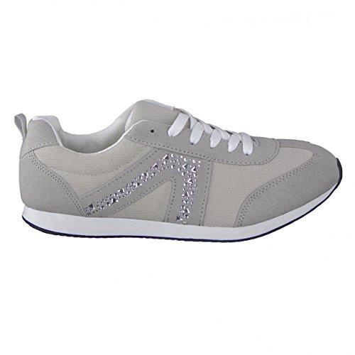 Betty May Damen Fashion Sneaker Grau