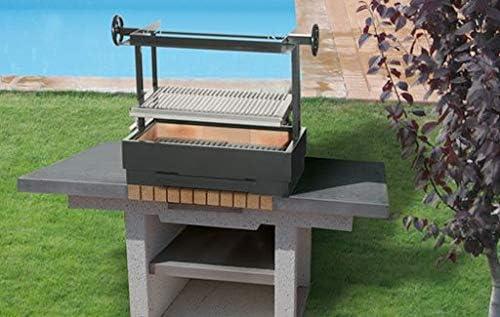Ferlux Barbacoa de Acero para carbón Fabricada en Acero Modelo Jardín: Amazon.es: Jardín