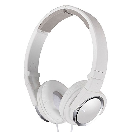 - JVC HAS400W Carbon Nanotube On-Ear Headband Headphones (White)