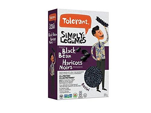 Tolerant Organic Pasta Black Bean, 8 Ounce