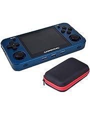 LOTSOFUN Anbernic RG351MP Handheld Arcade gameconsole, aluminiumlegering 128G retro wifi-gameconsole met 20.000 klassieke games, RK3326 Quad-core 3,5 inch IPS handconsoles - blauw
