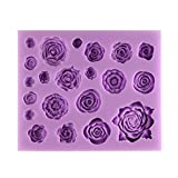Tasty Molds Roses Collection Silicone Fondant Mold High Definition Quality Cupcake Topper DIY Cake Decoration Birthday Party Tool for Sugarcraft, Chocolate, Resin, Polymer Clay and Crafting Projects