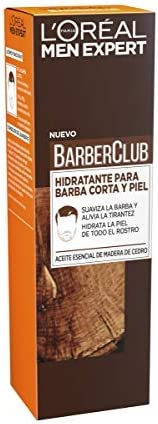 L'Oréal Paris Men Expert Barber Club - Crema Hidratante para Barba Corta y Piel - 50 ml