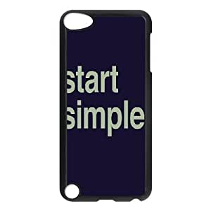 Start Simple Design Unique Customized Hard Case Cover for iPod Touch 5, Start Simple iPod Touch 5 Cover Case