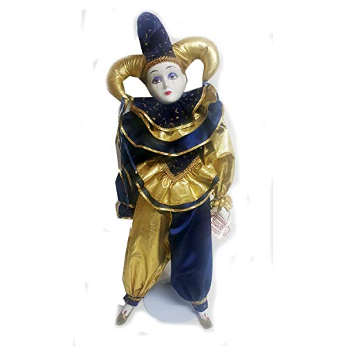 Vintage 1994 Collectible Jester Clown Musical Porcelain Doll Plays All I Ask of You The San Francisco Music Box