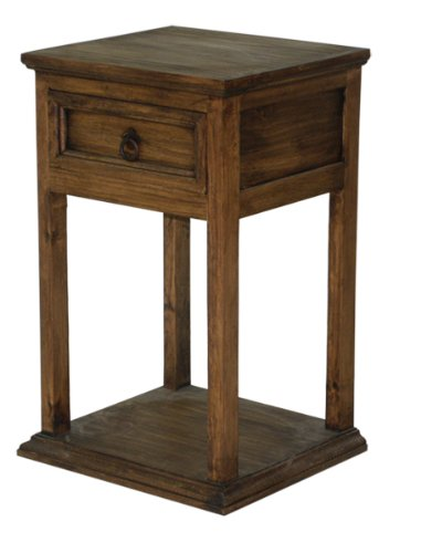 Promotional Nightstand, Real Wood, Western, Rustic Look, Bedside Table For Sale