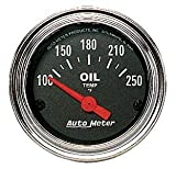 Auto Meter 2542 Traditional Chrome Electric Oil Temperature Gauge