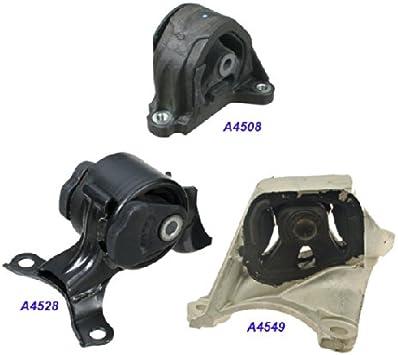 K0985 Engine Motor /& Trans Mount Set for 2003-2006 Honda Element 2.4L 4WD AUTO
