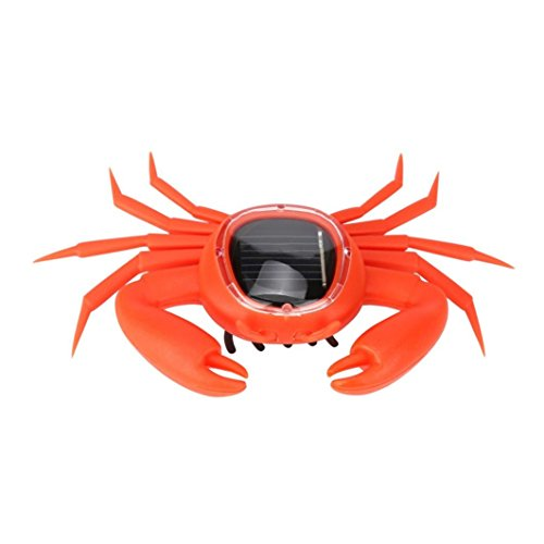 (Educational Solar Powered Robot Toy, E-SCENERY Solar Powered Animals Toy Gadget Gift (Crab))