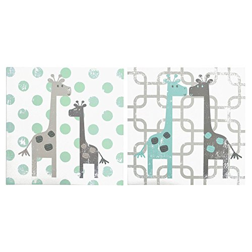 Uptown Giraffe 2 Piece Canvas Wall Art by The Peanut Shell ()