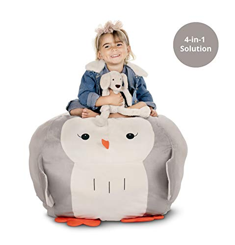 fed Animal Storage - Organize I Play I Decor I Seat I Mom's Life Saver Bean Bag Chair for Kids I Dream Come True Toy Storage Solution I 28 inches I BeanBag Chair Cover only ()