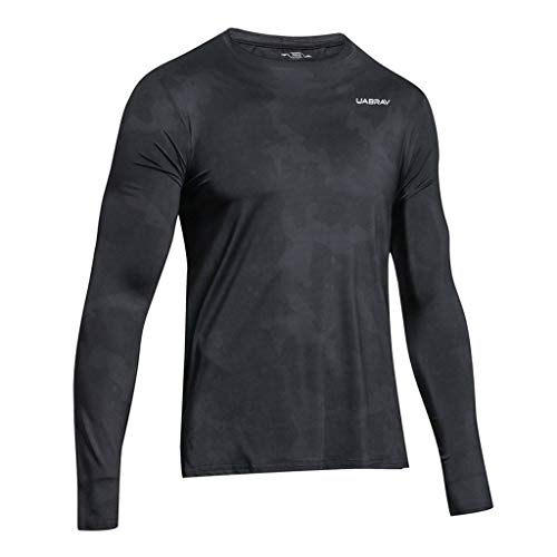 POQOQ Men Long Sleeve Quick Drying Fitness Sport Outdoor Soft T-Shirt Top -