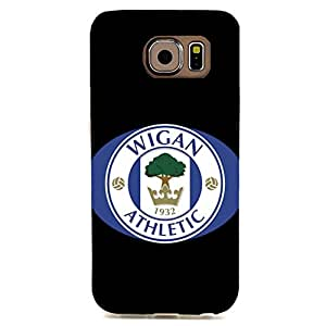 Simple Logo Wigan Athletic FC Phone Case Fancy Hard Cover Case For Samsung Galaxy S6 Edge
