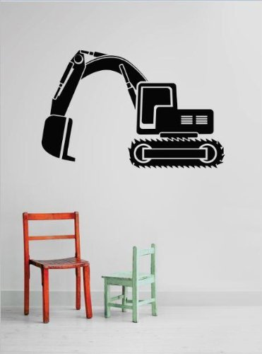Vinyl Wall Decal Sticker : Backhoe Tractor Dump Truck Demolish Demolition Construction Operation Equipment Kids Boys Tools Bedroom Bathroom Living Room Picture Art Peel & Stick Mural - Discounted Sale Price Size: : 16 Inches X 20 Inches - 22 Colors Available