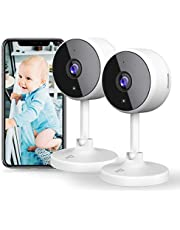$46 » [New2021] WiFi Camera 2PCS Littlelf Security Camera, 1080P Indoor Camera Wifi Baby Monitor with 2-Way Audio, Human Detection, Night Vision, Home Surveillance Camera for Pet/Baby/Elder, Alexa Support