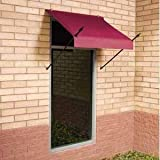 IDM Worldwide 3020768 Modern Designer Awning Burgundy 8 ft.
