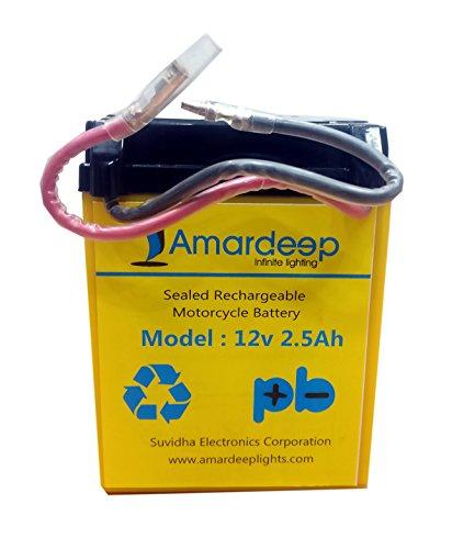 Amardeep 12V 2.5Ah SMF Motorcycle Battery