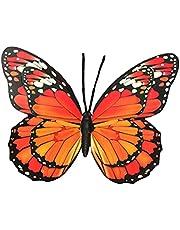 UPKOCH Vlinder wanddecoratie 40 cm 3D muurkunst woonkamer wanddecoratie glas wandversiering balkon terras decoratie hanger ijzer tuindecoratie figuren dieren tuin decoratie willekeurige kleur