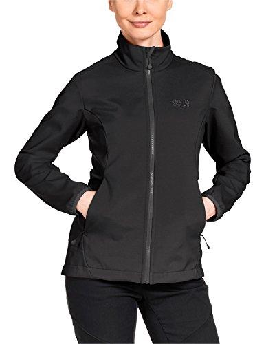 Jack Wolfskin Women's Element Softshell Jacket, X-Large, Black by Jack Wolfskin