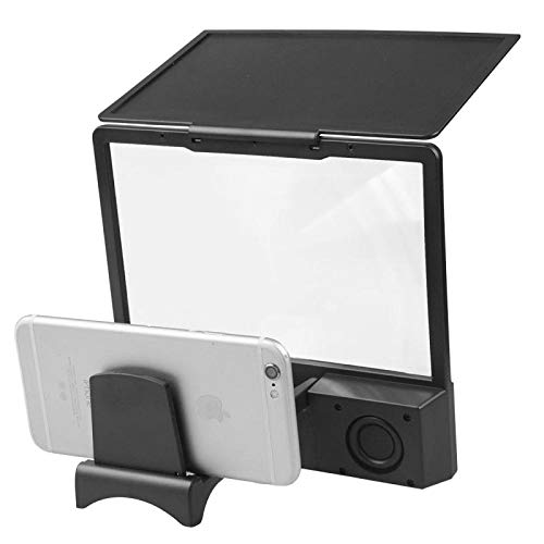 THE NEON LIGHTS L8 Phone Screen Magnifier With Bluetooth Speaker Black