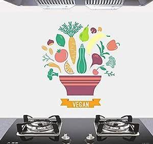 Kitchen cartoon high temperature oil proof wall sticker Kitchen decoration mm