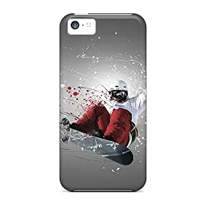 Flexible Tpu Back Case Cover For Iphone 5c - Snowboarder Sport