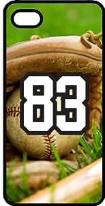 Baseball Sports Fan Player Number 83 Black Plastic Decorative iphone 5s Case