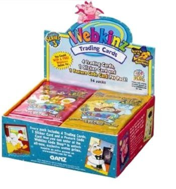 Webkinz Trading Cards-Series 3 Sealed Box Webkinz Series 1 Trading Cards