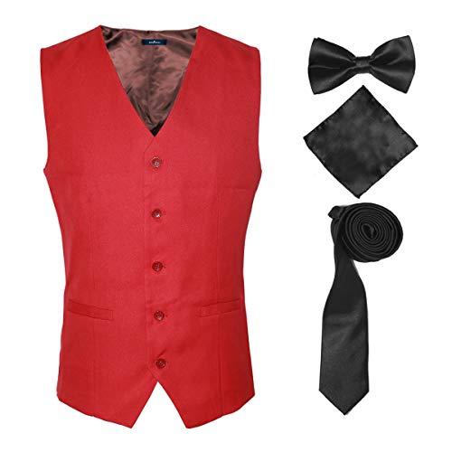 Men's Tuxedo Suit Red Vests Formal Dress for Men More Color for ()