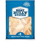 Best Bully Sticks Prime Thick-Cut Cow Ear Dog Chews (12 Pack), Sourced from All-Natural, Free-Range, Grass-Fed Cattle, No Hormones, Additives or Chemicals - Hand-Inspected and USDA/FDA Approved