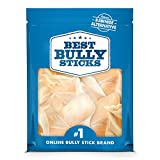Best Bully Sticks Prime Thick-Cut Cow Ear Dog Chews (12 Pack) - Sourced from All-Natural, Free-Range, Grass-Fed Cattle, No Hormones, Additives or Chemicals - Hand-Inspected and USDA/FDA-Approved