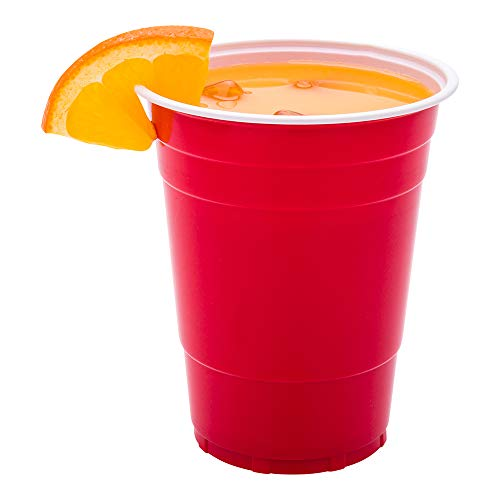 Restaurantware B07GWCJ189 RWP0463R-25 RW Base 16 oz Red Plastic Party Cup 3 x 4 3/4