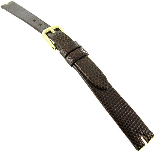 49c639a36e6 10mm Hadley-Roma Java Lizard Gucci Cut Brown Unstitched Watch Band LS 974