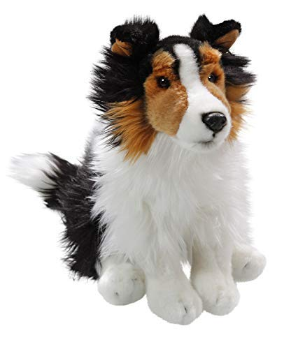 (Shetland Sheepdog (Collie) Black-White, Sitting, 10 inches, 25cm, Plush Toy, Soft Toy, Stuffed Animal 3429002)