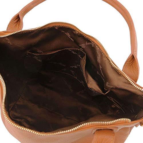Bolso Para Al Cuero Leather Mujer Hombro De Tl141705 Tuscany Compact Marrón qgawEAA
